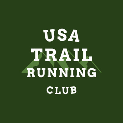 Trail Running Logo Maker 1542d