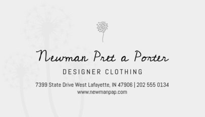 Clothing Store Business Card Generator 561d