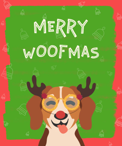 Christmas T-Shirt Design Generator with Dog 832a