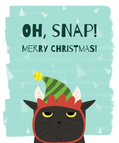Christmas T-Shirt Design Maker with Grumpy Cat Graphic 832b