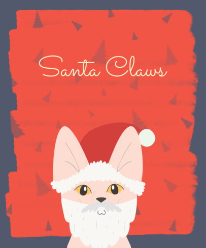 Cat Santa Christmas T-Shirt Design Generator 832c
