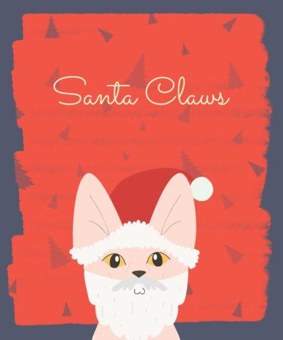 Cat Santa Christmas T-Shirt Design Generator 832c