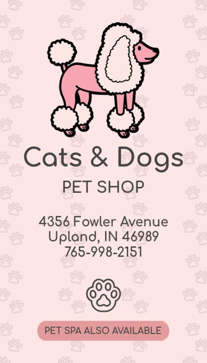 Business Card Maker with Dog Graphics 184d
