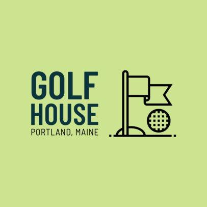 Golf Logo Maker 1554a