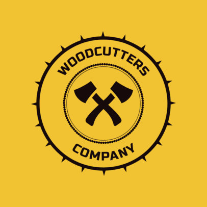 Carpentry Logo Maker for a Lumberjack 1548a