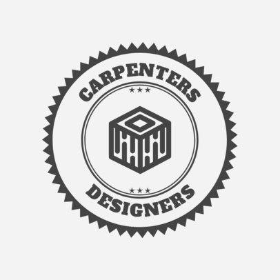 Carpenter Logo Maker for a Furniture Designer 1548b