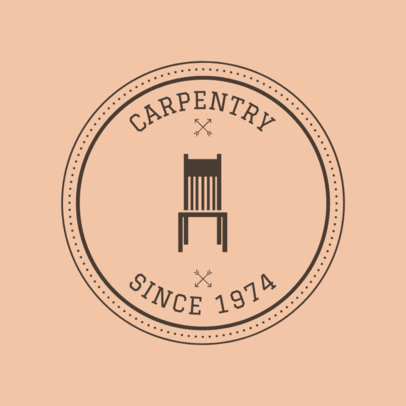 Carpentry Logo Maker for a Vintage Carpentry 1548d