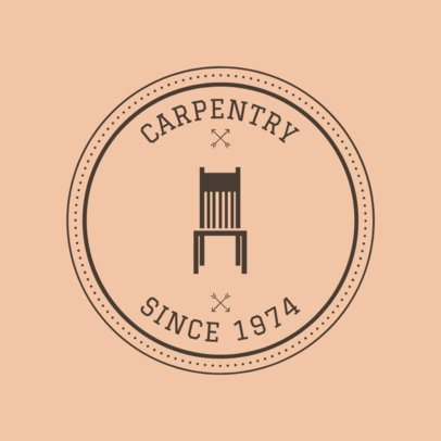 Carpentry Logo Maker for a Vintage Carpentry 1548d