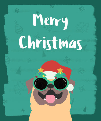 Merry Christmas T-Shirt Design Template 832d