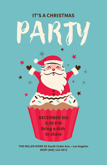 Christmas Party Flyer Template for an X-Mas Party 840