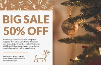 Christmas Sale Flyer Design Template 860