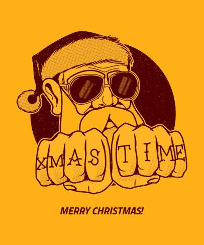 Christmas Tee Design Maker with Bad Santa Graphic 834b