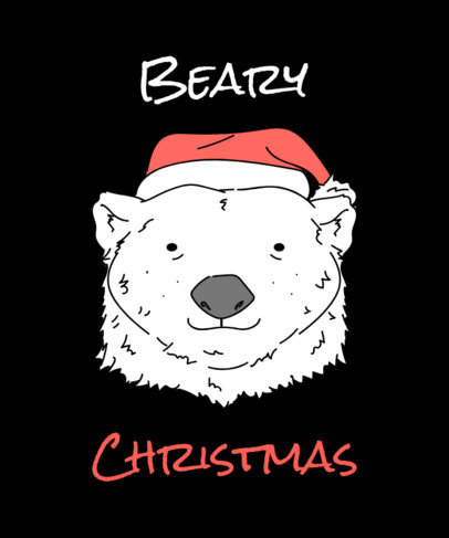Xmas Tee Design Creator with Polar Bear Graphics 835d