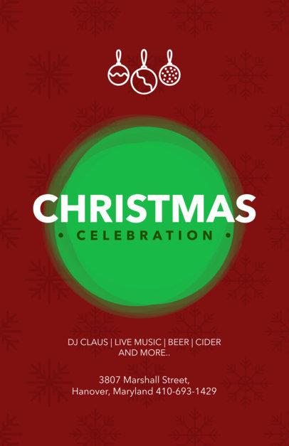 Christmas Flyer Maker for a Festive Christmas Celebration 842