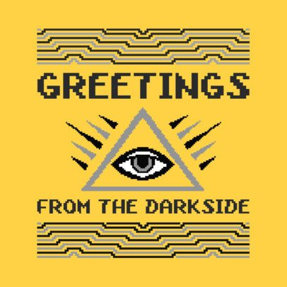 Christmas T-Shirt Design Maker with Illuminati Graphic 652h