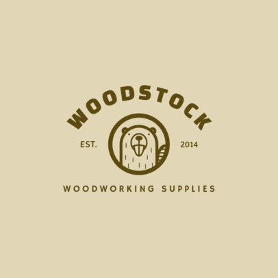 Woodwork Logo Maker for a Woodworking Supplies Company 1549a