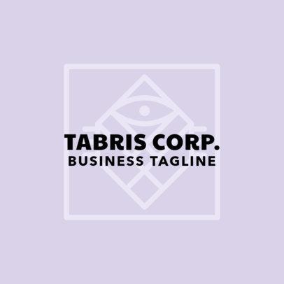 Corporate Logo Design Generator with Geometric Graphic 1516e