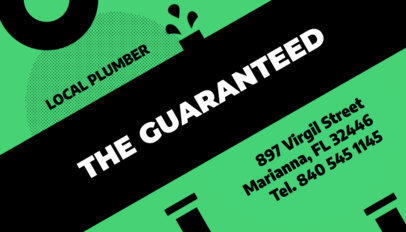 Business Card Maker for a Local Plumber 662d