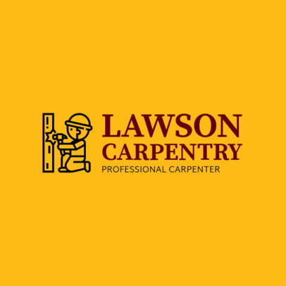 Simple Carpentry Logo Template 1551d
