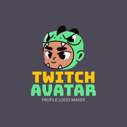 Gaming Logo Maker for a Twitch Character 1464