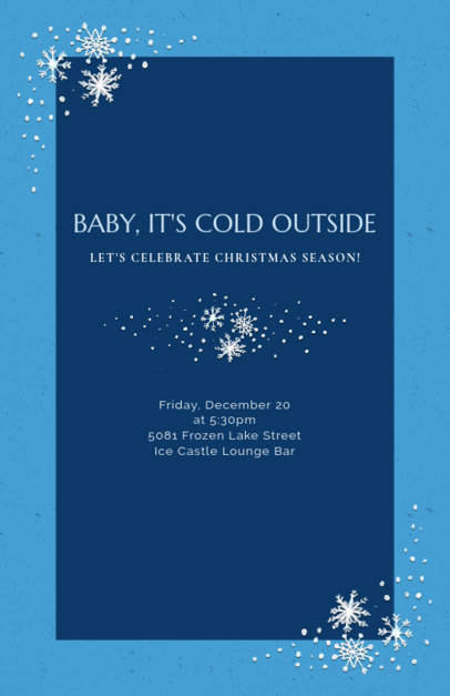 Winter Style Christmas Flyer Template 841e