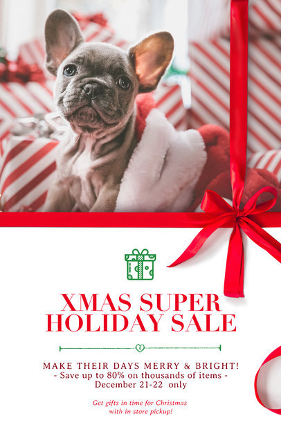 Christmas Flyer Template for a Holiday Super Sale 859