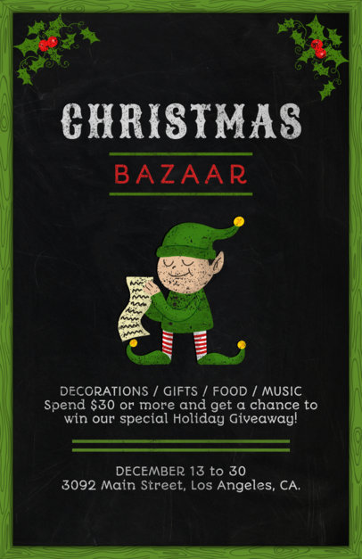 Christmas Bazaar Flyer Template 863