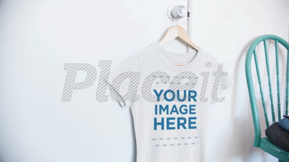 Video of a T-Shirt Hanging on a Closet Door in a Bedroom 13083