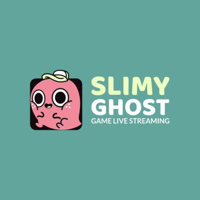 Logo Maker for a Twitch Channel with a Funny Clipart 1464b