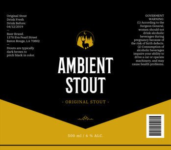 Stout Beer Label Template 764a
