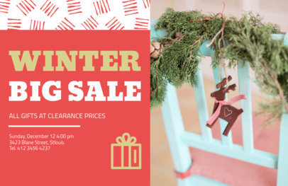 Holiday Flyer Maker for a Winter Sale 860a