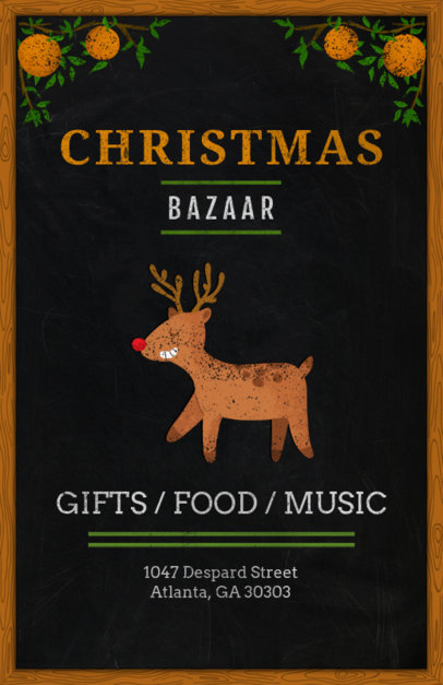 Christmas Bazaar Flyer Design Template 863d