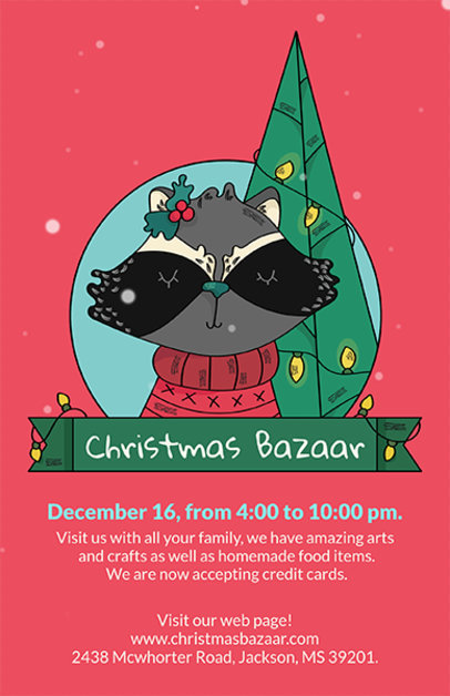 Christmas Flyer Maker for a Christmas Bazaar 868