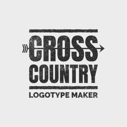 Cross Country Logo Design Template 1565