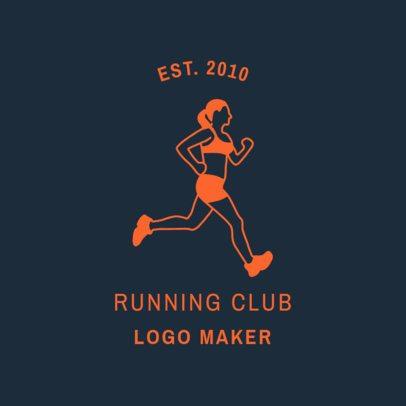 Running Club Logo Template 1546b