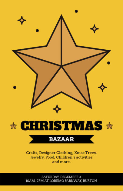 Christmas Bazaar Flyer Maker 861a