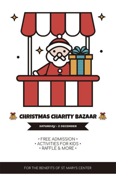 Christmas Flyer Design Template for a Charity Bazaar 861e