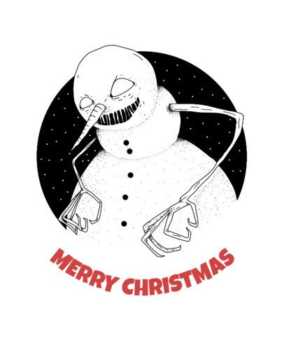 Christmas T-Shirt Design Maker with Evil Snowman 825d