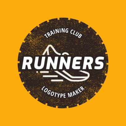 Track and Field Logo Maker for a Runners Club 1545a