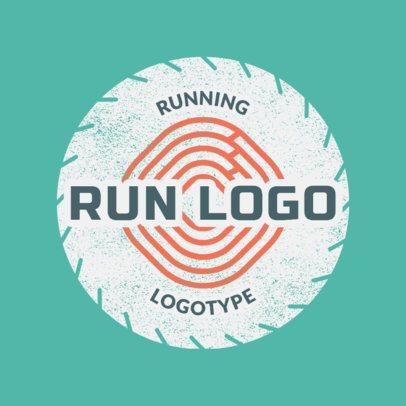 Running Logo Maker for a Running Club 1545b