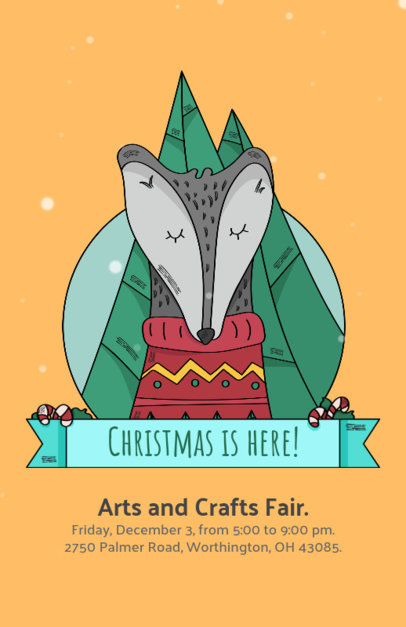 Christmas Flyer Template for an Arts and Crafts Fair  868c