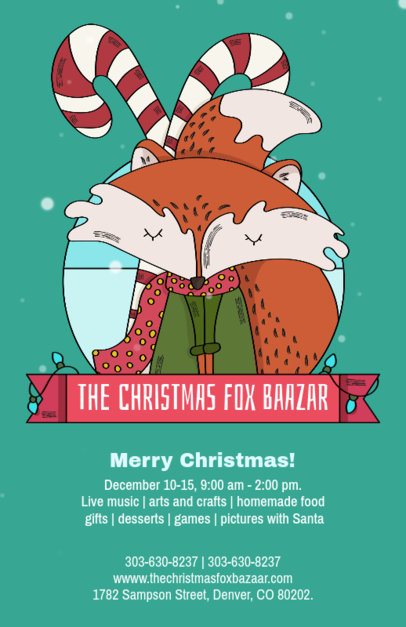 Online Flyer Template for a Christmas Bazaar 868e