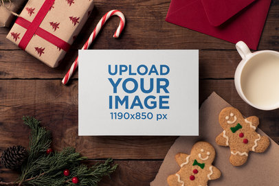 Festive Christmas Card Mockup 2382