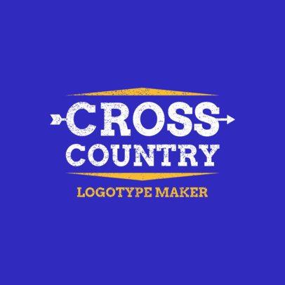 Minimalistic Cross Country Logo Generator 1565a