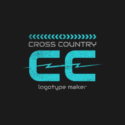 Cross Country Logo Design Creator 1565d