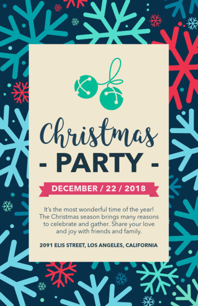 Xmas Flyer Maker for Christmas Block Party 848