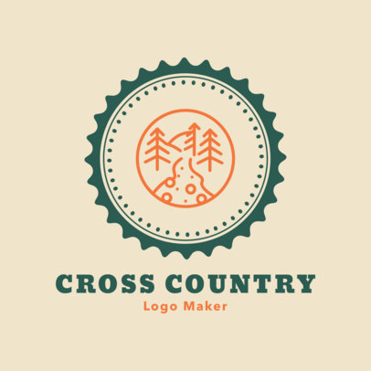 Cross Country Logo Template 1566