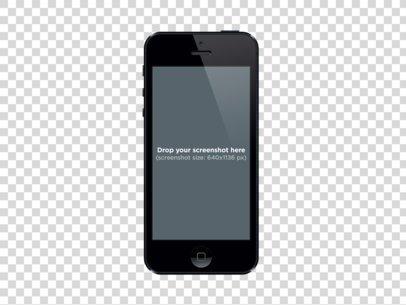 Black iPhone 5 Vertical
