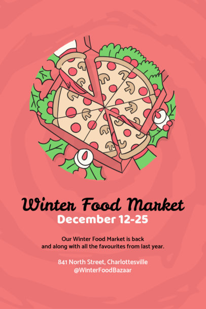 Ugly Xmas Flyer Maker for Winter Food Markets 870d