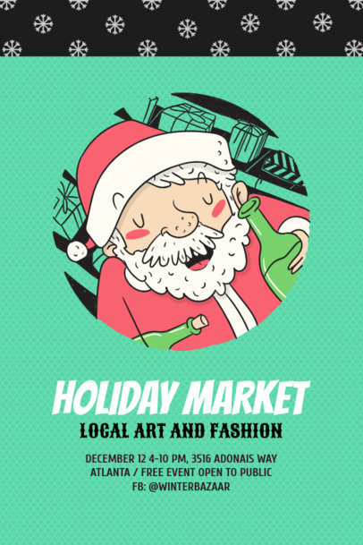 Xmas Flyer Design Generator for Holiday Markets 780a